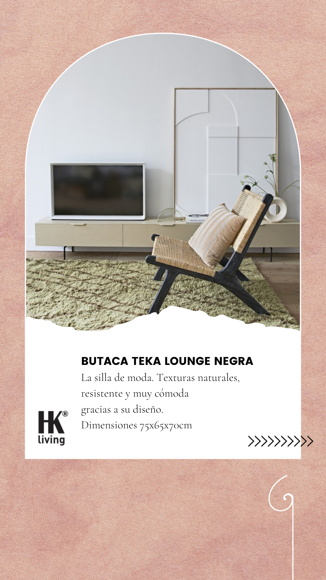 Butaca Teka Lounge Negra