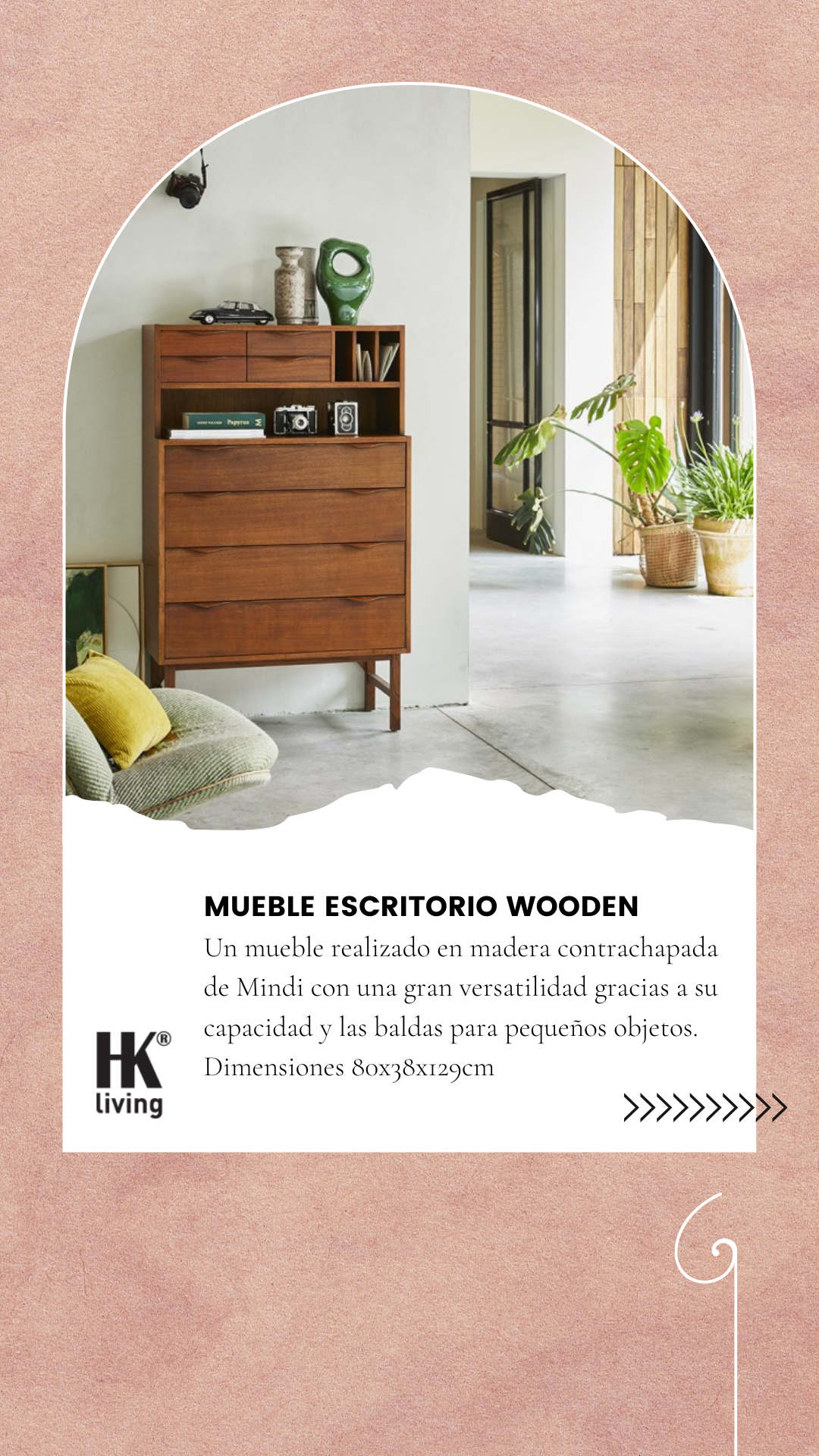 Mueble Escritorio Wooden